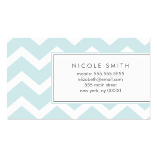 Aqua Zig Zag Chevron Pattern Calling Cards Double-Sided Standard Business Cards (Pack Of 100)