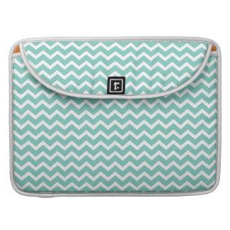 Aqua Zig Zag Chevrons Pattern MacBook Pro Sleeve
