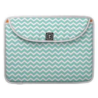 Aqua Zig Zag Chevrons Pattern Sleeve For MacBook Pro