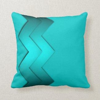 Aqua Zig Zag Design 2 Pillows