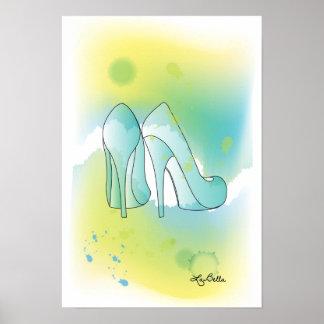 AquaBella Watercolor Print - Shoes