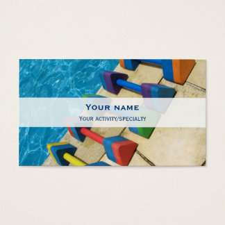 """Aquacise"" double-face business card"