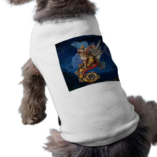 Aquadiva Riding a Unicorn Seahorse Shirt