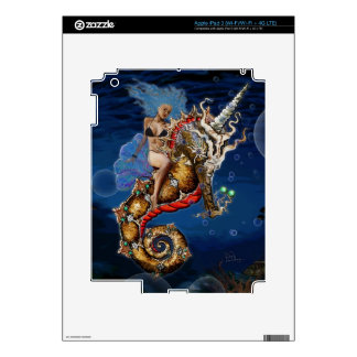 Aquadiva Riding a Unicorn Seahorse Skins For iPad 3