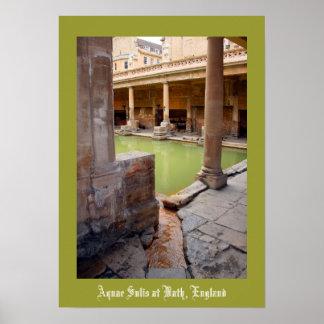 Aquae Sulis en el baño Inglaterra Póster