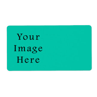 Aquafresh Green Aqua Fresh Color Trend Template Personalized Shipping Label