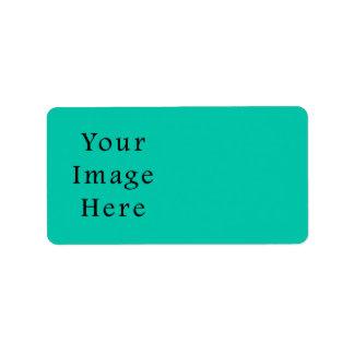 Aquafresh Green Aqua Fresh Color Trend Template Personalized Address Labels