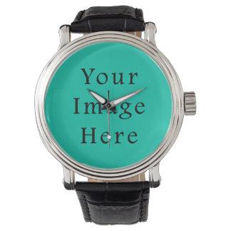 Aquafresh Green Aqua Fresh Color Trend Template Wrist Watch