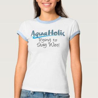 AquaHolic Ladies Ringer T-Shirt