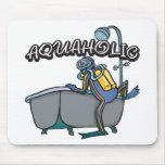 Aquaholic SCUBA Mouse Pads