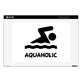 Aquaholic Swimmer Decal For Laptop