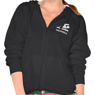 Aquaholic Swimmer Hooded Sweatshirt