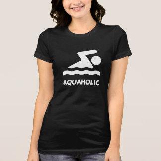 Aquaholic Swimmer Shirt
