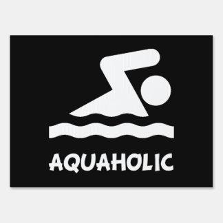 Aquaholic Swimmer Sign