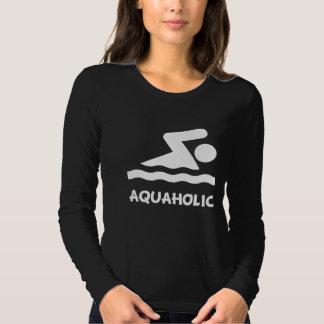 Aquaholic Swimmer Tee Shirt
