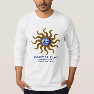 aqualights-EARTH-DAY-2008 brown T-Shirt
