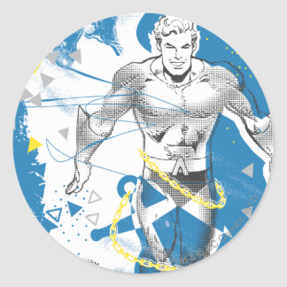 Aquaman - Absurd Collage Poster Classic Round Sticker