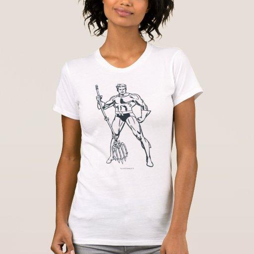 Aquaman con el Pitchfork BW Camiseta
