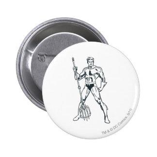 Aquaman con el Pitchfork BW Pin