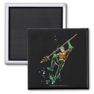 Aquaman con la lanza imán cuadrado