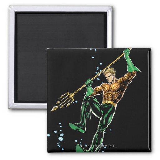 Aquaman con la lanza imán para frigorífico
