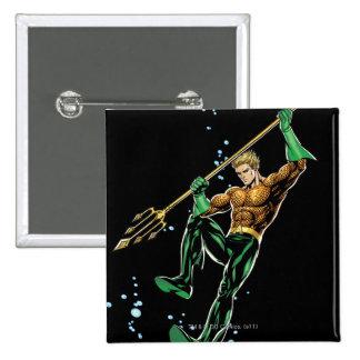 Aquaman con la lanza pin cuadrado