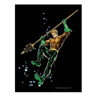 Aquaman con la lanza postales
