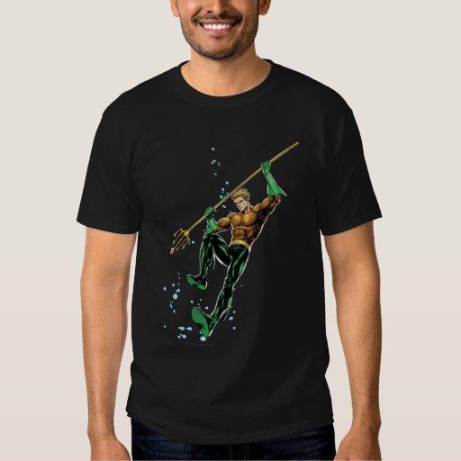 Aquaman con la lanza remeras