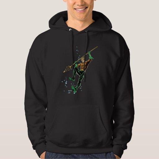 Aquaman con la lanza sudadera