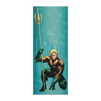 Aquaman Crouching Canvas Print