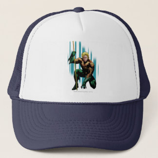 Aquaman Crouching Trucker Hat