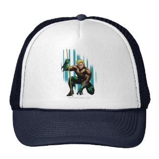 Aquaman Crouching Trucker Hat
