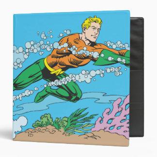 Aquaman Dashes Thru Water 3 Ring Binder