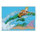 Aquaman Dashes Thru Water Cards
