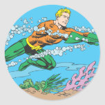 Aquaman Dashes Thru Water Stickers