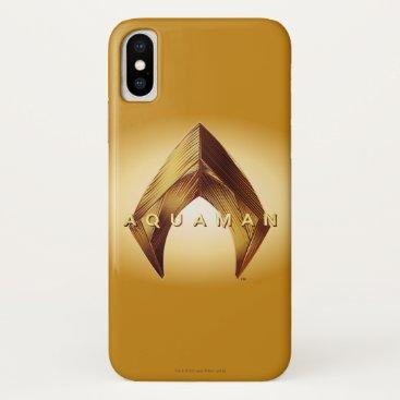 Aquaman   Golden Aquaman Logo iPhone X Case