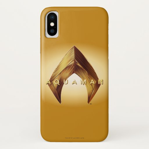 Aquaman | Golden Aquaman Logo iPhone X Case