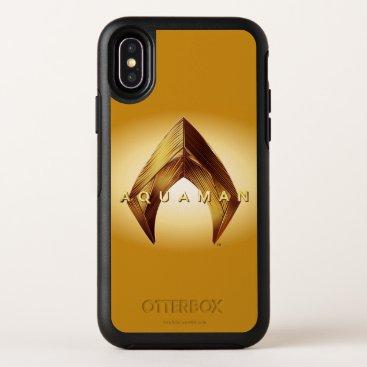 Aquaman   Golden Aquaman Logo OtterBox Symmetry iPhone X Case