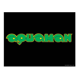 Aquaman Green Logo Postcard