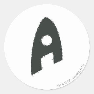 Aquaman Grunge 'A' Round Stickers