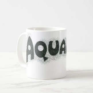 Aquaman Grunge Black Logo Coffee Mug