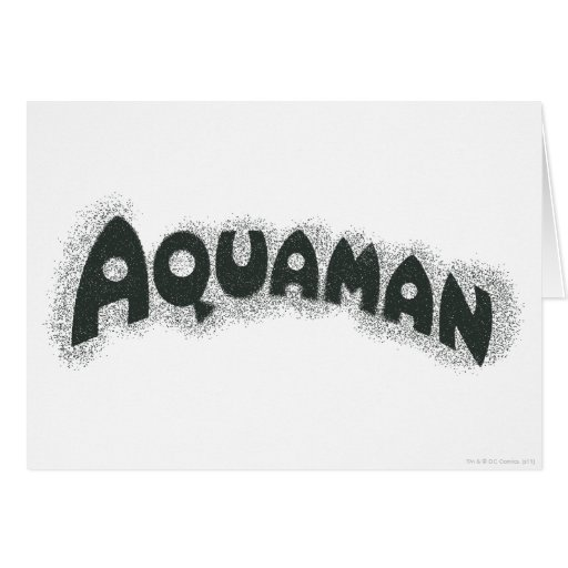Aquaman Grunge Black Logo Greeting Cards