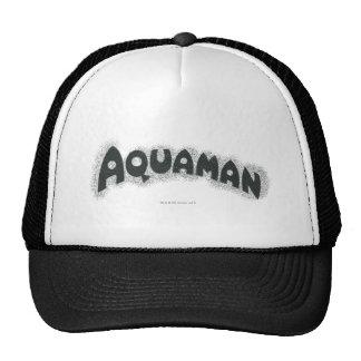 Aquaman Grunge Black Logo Trucker Hat