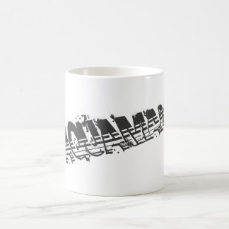 Aquaman Grunge Stripe Logo Coffee Mug