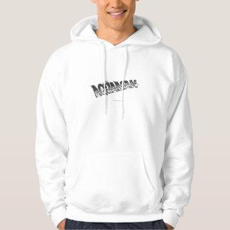 Aquaman Grunge Stripe Logo Hooded Sweatshirt