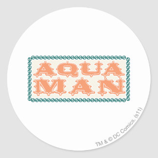 Aquaman It's Showtime! Letters Classic Round Sticker