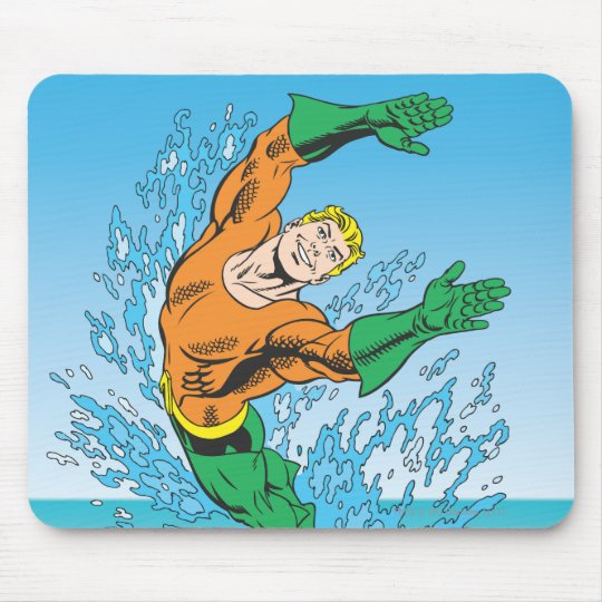 Aquaman Jumps Out of Sea Mouse Pad