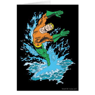 Aquaman Leaps in Wave Cards