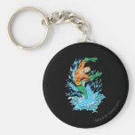Aquaman Leaps in Wave Keychain