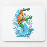 Aquaman Leaps in Wave Mouse Pad